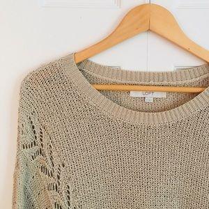 LOFT Lightweight Camel/Tan Sweater